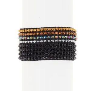 AYOUNIK Crystal Beaded Bracelet Set